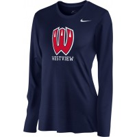 Westview Youth Football 06: Nike Women's Legend Long-Sleeve Training Top - Navy
