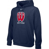 Westview Youth Football 10: Youth-Size - Nike Team Club Men's Fleece Training Hoodie - Navy
