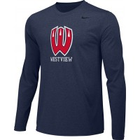 Westview Youth Football 04: Adult-Size - Nike Team Legend Long-Sleeve Crew T-Shirt - Navy